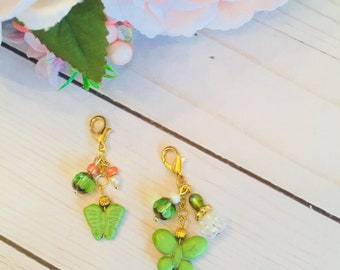 Green Butterfly Charm ~ Travelers Notebook ~ TN ~ Planner ~ Accessories ~ Decorations