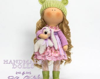 This is handmade fabric doll created by Master Alise Kulish