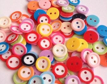 100 pcs simple round button