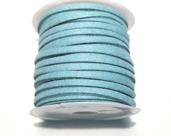 5 Meter/Roll Blue Faux Suede Cord  3x1.5mm(No.37)
