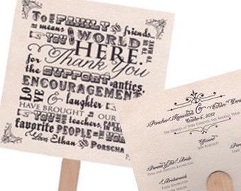 Custom Traditional Wedding Fan Program Beautiful Wedding Program