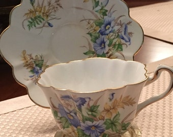 Rosina Bone China Made In England - Cup and Saucer