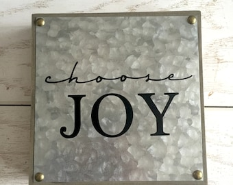 Choose Joy Entry Way Sign Welcome Sign Rustic Sign Magnolia Market Fixer Upper Farmhouse House Warming Gift Hostess Wedding present War room