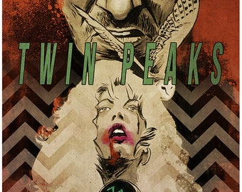 David Lynch TWIN PEAKS - Fire Walk With Me movie poster full colour art print Laura Palmer