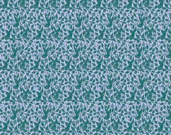 1/2 Yard Free Spirit Night Music Stitched in Flight in Teal AB012 designed by Amy Butler