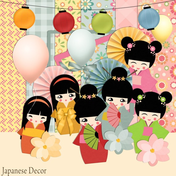 japanese scrapbook kit japanese scrapkit instant download rh etsy com Scrapbook Frames Clip Art Photo Album Clip Art