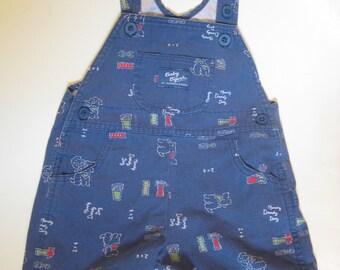 Vintage Osh Kosh B'Gosh Denim SHORTALLS Overalls Shorts, Size 18 Months Toddler Shorts, Boys Vintage Shorts, Vintage Kids Clothing