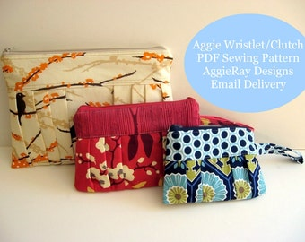 INSTANT DOWNLOAD The Aggie Wristlets and Clutch PDF Sewing pattern Create and Sell Product
