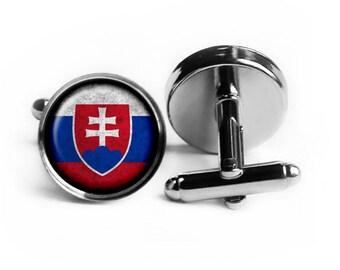 Slovakia Slovakian Flag Cufflinks