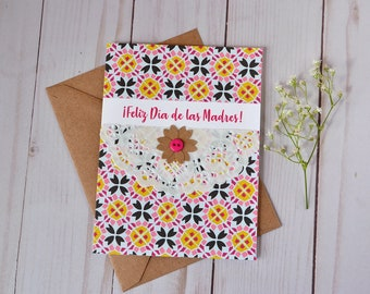 Feliz Dia de Las Madres - Spanish Mother's Day Card -  Happy Mother's Day - For Mom