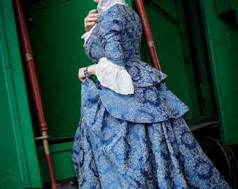 Rococo Revival costume blue dress Victorian style Made to order