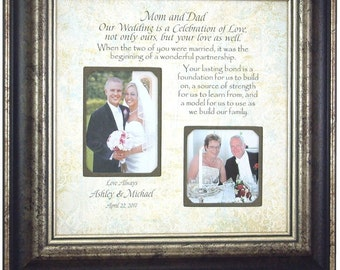 Parents of the Groom Gift, Parents Wedding Gift, gift to parents, wedding gift parents, parents of the bride gift, Parents Thank you, 16x16