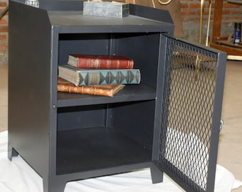 Night stand or side table fabricated in iron