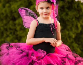 Monarch Butterfly wings - Butterfly Costume - Little Girls Butterfly Costume - Butterfly Halloween Costume - Girls Birthday Outfit
