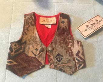 Child's Western Cowboy Vest 2T New with tags