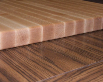 """1-1/2"""" Thick Hard Maple Rock Maple Cutting Board Pick Your Custom Size"""