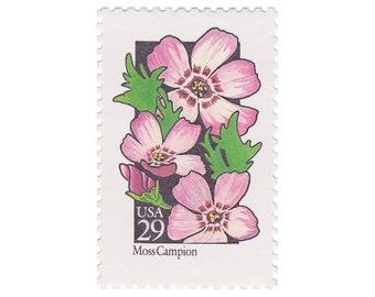 5 Unused Vintage Postage Stamps - 1992 29c Wildflower Series - Moss Campion - Item No. 2686