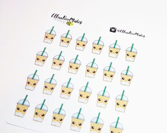 Kawaii Coffee Frappuccino Sticker Sheet