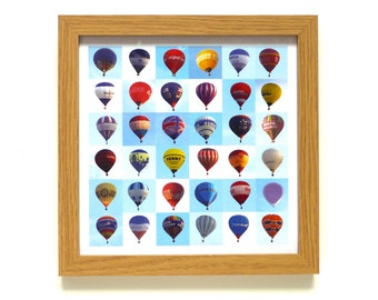 Balloons | Hot Air Balloon Art Print | Framed Print | Collections Picture | Square Photographic Print | Flight | Around The World In 80 Days