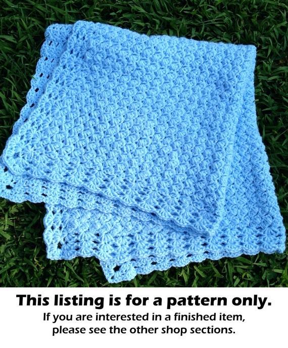 Crochet pattern baby blanket, crochet afghan pattern, baby blanket ...