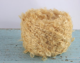 Waldorf doll Yarn Mohair/ Wool  Wild Mohair Boucle  50 grams Blonde