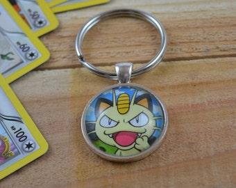 Meowth Pokemon Keychain