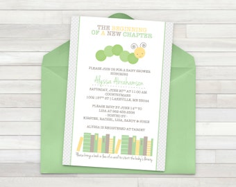 Book Baby Shower Invitation - Printable