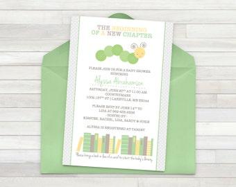 Book Baby Shower Invitation - Printable