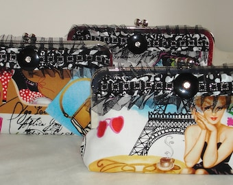 Paris Theme Clutch / Bridesmaid Gift / Summer Clutch / Funky Clutch