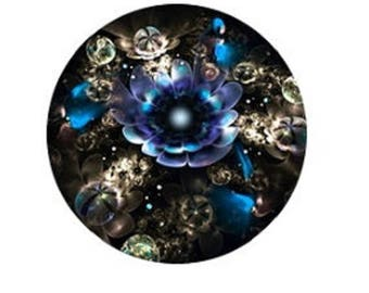 pretty abstract flower cabochon 25mm