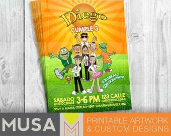 Atención Atención Printable Digital Birthday Party Invitation in English or Spanish