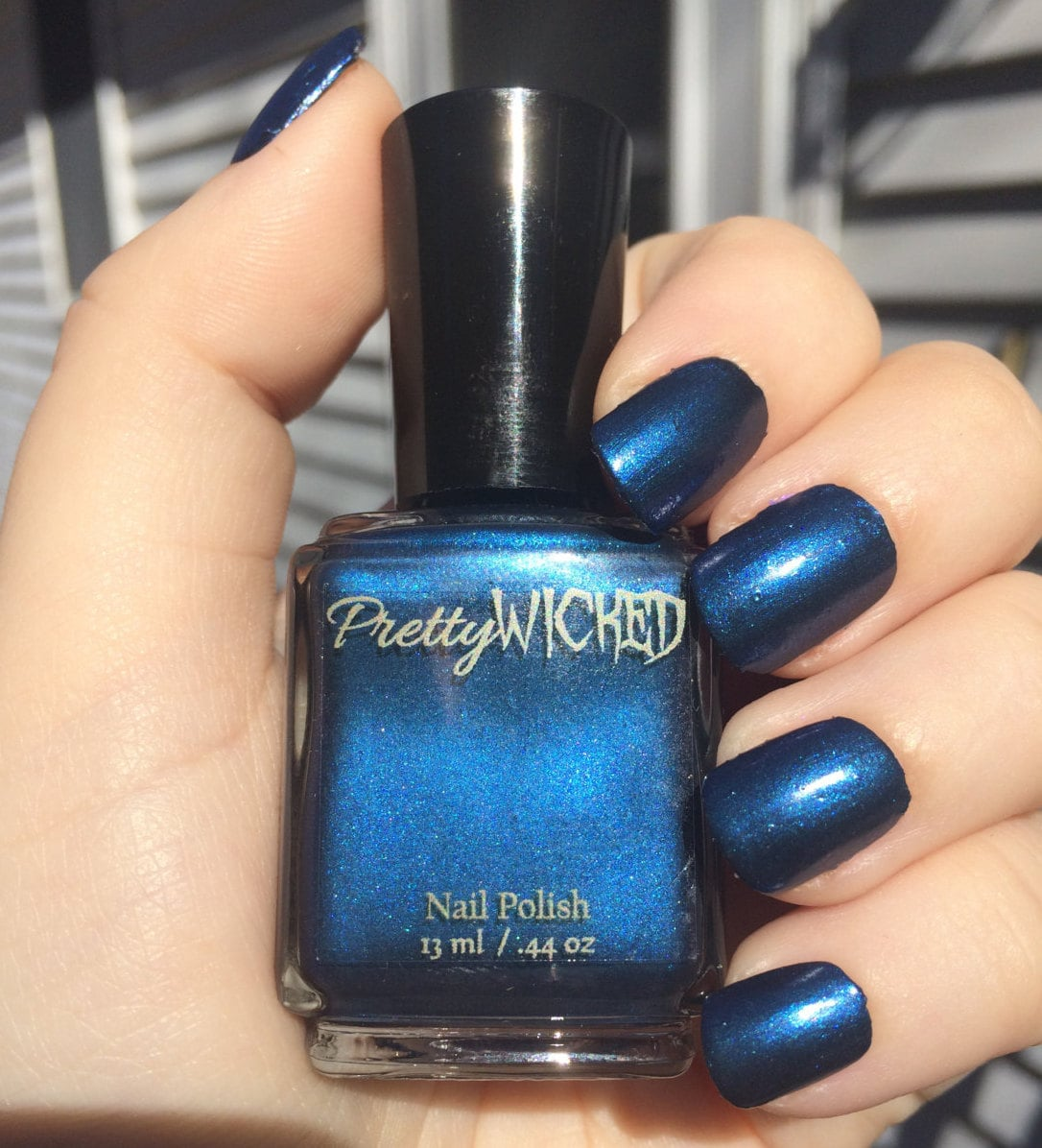 Dark Prussian Blue Nail Polish, Cordelia Polish, Blue Nail Polish ...