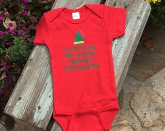 ELF Christmas baby BODYSUIT