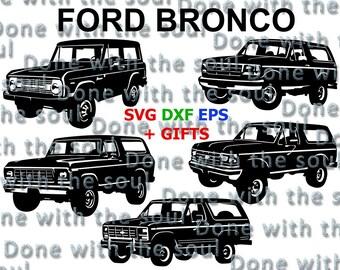 Ford bronco - Ford truck - Ford digital - Ford vector - Car SVG – Car vector - Ford svg - Car cutting files - Car Svg File – Svg dxf eps