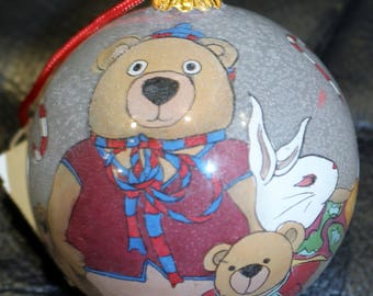 Neiman Marcus Exclusive Hand Painted Glass Ornament Unused
