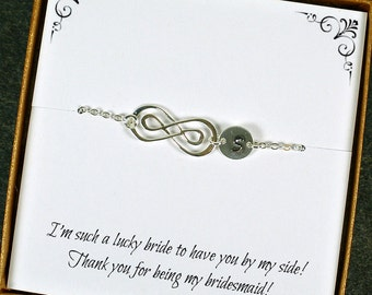 Bridesmaid Bracelet, Personalized Bridesmaid Jewelry, Bridesmaid Gift, Maid of Honor Gift, Set of 3 to 10, Sterling Silver Infinity Bracelet