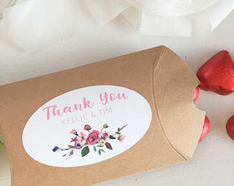 Thank You Stickers, Custom Wedding Stickers, Personalized Wedding Stickers, For Favors, Floral Wedding Stickers, Monogram Wedding Sticker