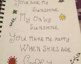 You Are My Sunshine (Original Artwork)