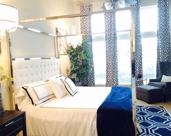 Blue Curtains you choose your length, Home Decor, Window Treatments, Drapes, Grommet Curtains,