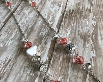 Peach Silver Necklace