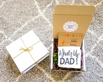 Pregnancy Announcement to Husband, What's Up Dad, Pregnancy Reveal to Husband, Pregnancy Announcement Box, Pregnancy Announcement Ideas