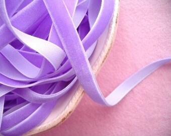 Orchid Velvet Ribbon - 3/8 inch - 1 Yard