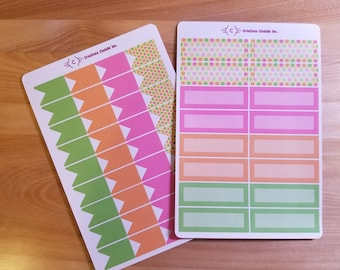 Stickers for Planner - pattern with multicolored dots, Planner stickers