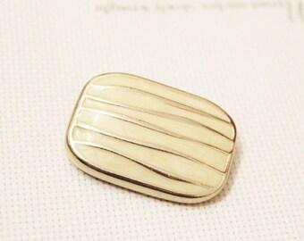Vintage Gold Enamel Brooch Pendant, Big Bold Pendant, Gifts Under 15