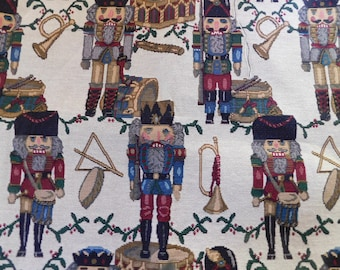 Christmas Upholstery Fabric, Nutcracker, 1 Yard 60 Inches Wide