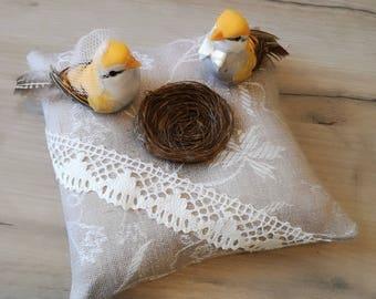 Ring pillow ,Ring Bearer Pillows, Linen ring pillow