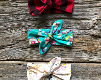 Any 3, Choose 3 Knotted Headbands for 25 CAD, Knotted Headbands, Knotted Baby Headband, Baby Headband, Top Knot Headband, Headband set