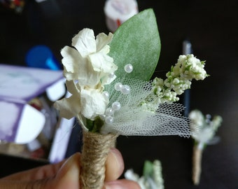 Wedding Greenery Boutonniere
