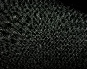 Black Linen Look Lead Weighted Voile Net Muslin Curtain Fabric - Extra Wide 300cms