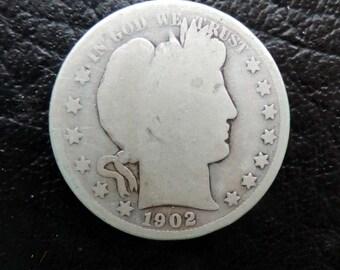 1902-P  Barber/Liberty Head Half